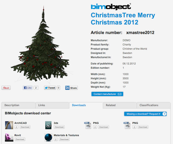 BIMobject Christbaum Download